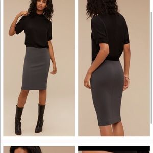Aritzia Wilfred grey pencil skirt